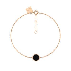 Bracelet Ever Mini Disc Or Rose Onyx