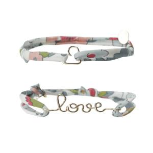 Bracelets Duo Love Coeur Gold Filled 14K Céladon