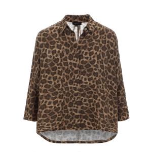 Blouse Fur Oversize Lin Imprimé Léopard