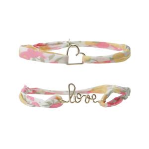 Bracelets Duo Mère-Fille Cœur Love Gold Filled