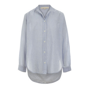 Blouse Lidiane Coton Rayures Bleu