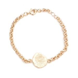 Bracelet Gourmette Médaille Amour Cœur Plaqué Or