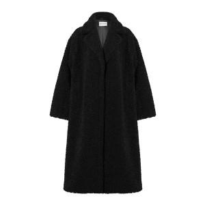 Manteau Maria Fausse Fourrure Noir