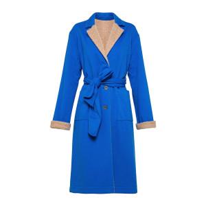 Manteau Réversible Coton Bleu