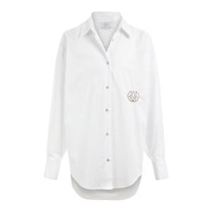 Chemise Coton Blanc avec Pierres de Protection