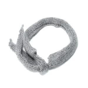 Headband Mon Petit Lurex Laine Gris Silver