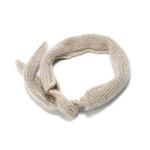 Headband Mon Petit Lurex Laine Beige Gold