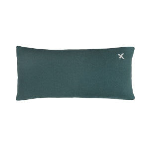 Coussin Lovers Lin Greenday Print Croix Argent 55 x 110