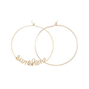 Créoles Sunshine Gold Filled