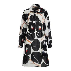 Robe Adea Coton Noir Imprimé Œillets