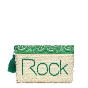 Pochette Paille Rock Bandana Vert