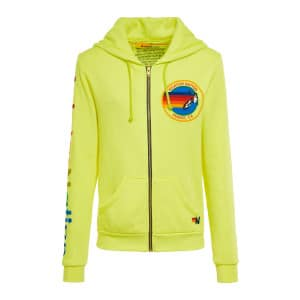 Veste Aviator Nation Coton Néon Jaune