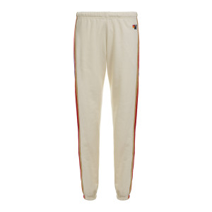 Jogging Classic Rayures Velours Blanc Vintage