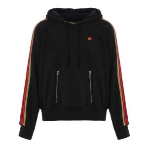 Sweatshirt Hoodie Classic Rayures Noir