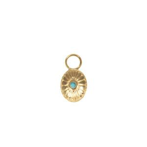 Mini Charm Navajo Turquoise Or