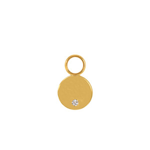Mini Charm Pastille Or Jaune Diamant