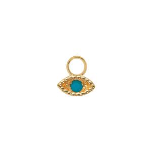 Mini Charm Œil Turquoise Or