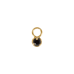 Mini Charm Or Jaune Diamant Noir