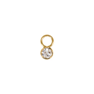 Mini Charm Diamant Or