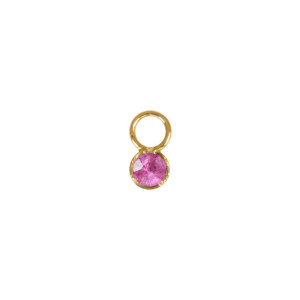 Mini Charm Or Jaune Saphir Rose