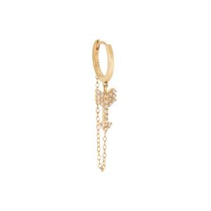 Mini Créole Chaîne Flèche Diamants Or (vendue à l'unité)