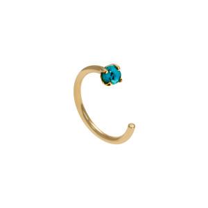 Mini Créole Candy Arc Turquoise Or (vendue à l'unité)
