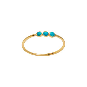 Bague Trilogie Turquoise Or