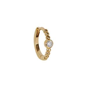 Créole Millegrain Diamant Or (vendue à l'unité)