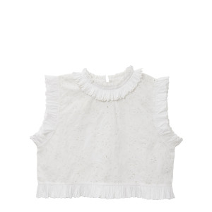 Top Anette Crop Blanc