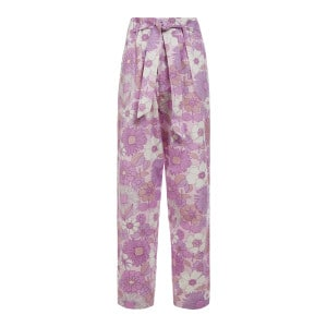 Pantalon Paula Coton Popeline Violet Clair
