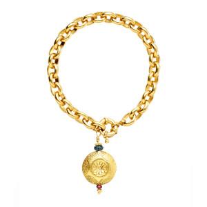 Bracelet Aravinda Zoïsite Grenat Plaqué Or