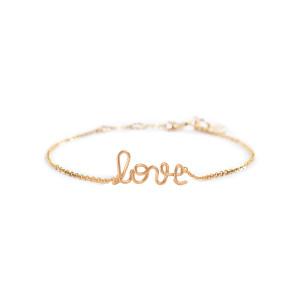 Bracelet Richelieu Love Gold Filled