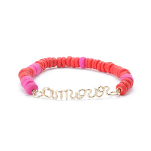 Bracelet Medina Amour Corail Rose Gold Filled, Collection Marrakech