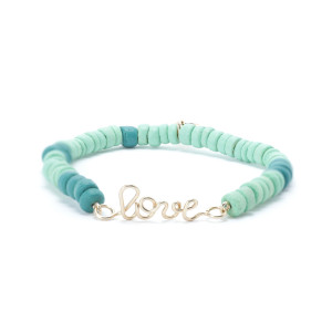 Bracelet Medina Love Viridien Turquoise Gold Filled, Collection Marrakech