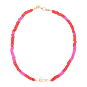 Collier Medina Love Corail Rose Gold Filled, Collection Marrakech