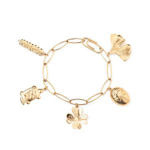 Bracelet Grigri Charms Plaqué Or