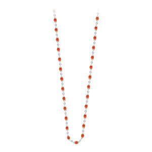 Sautoir Perles Résine Or 86 cm