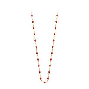 Sautoir Perles Résine Or 120 cm