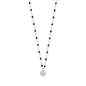 Collier Lucky Puce Mini Perles Résine Or Diamant