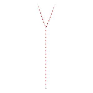 Sautoir Chapelet Mini Perles Résine Or 1 Diamant