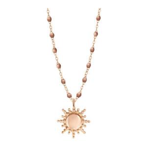 Collier Perles Résine Soleil Or Rose