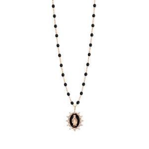 Collier Madone Suprême Perles Résine Or Diamants 50 cm