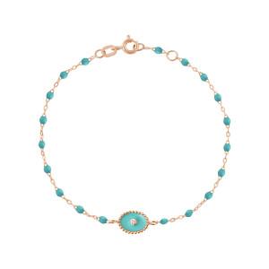 Bracelet Étoile du Nord Perles Résine Or Diamant