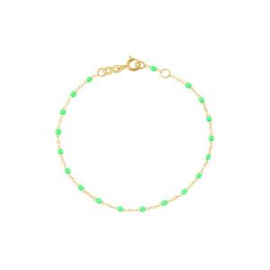 Bracelet Perles Résine Or, Enfant / Bébé