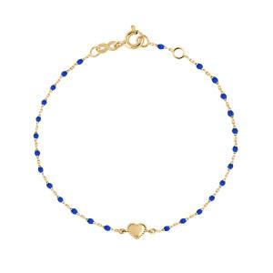 Bracelet Mini Perles Résine Lucky Cœur Or Jaune