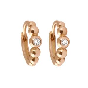 Mini Créoles Boules Diamants