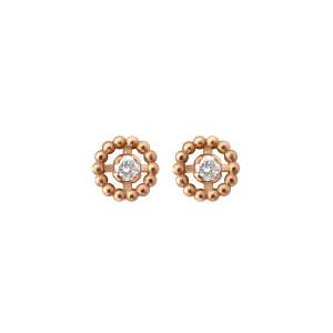 Boucles d'oreilles Lucky Puces Or Diamants