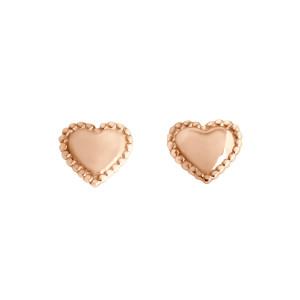 Boucles d'oreilles Lucky Cœur Or Rose