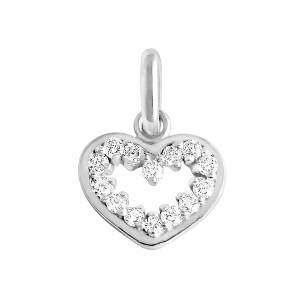 Pendentif Lucky Cœur Suprême Diamants Or Blanc
