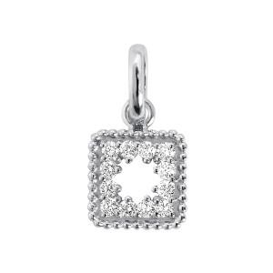 Pendentif Pirate Trésor Diamants Or Gris